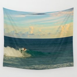 Taking it down the line Wall Tapestry