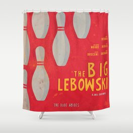 The Big Lebowski - Movie Poster, Coen brothers film, Jeff Bridges, John Turturro, bowling Shower Curtain