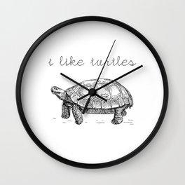 I Like Turtles Wall Clock