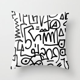 Doodski Throw Pillow