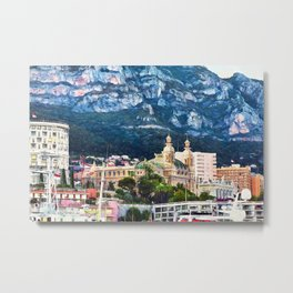 Monte Carlo Casino and Marina Metal Print