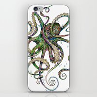 wicked iPhone & iPod Skins featuring Octopsychedelia by TAOJB