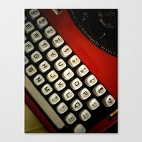 typewriter Canvas Prints featuring Typewriter by Mauricio Santana