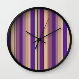 awning stripe Wall Clock