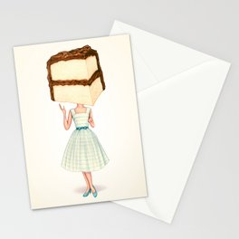 Cake Head Pin-Up - Chocolate Stationery Cards