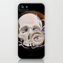 Stillife with skull, lavender and lovers eye iPhone Case