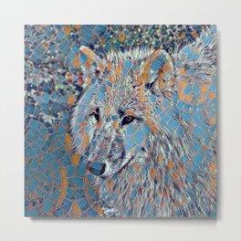 Mosaic - Wolf Metal Print