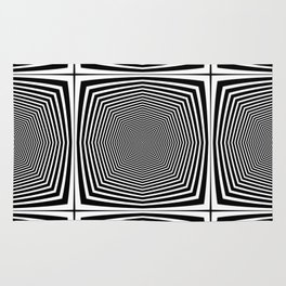 Black an White Hypnosis Rug