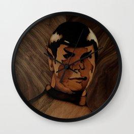 Original Leonard Nimoy (mr. Spock) on enterprise series of wood by Andulino Wall Clock