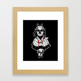 Cats are cruel Framed Art Print
