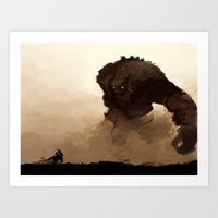 shadow of the colossus Art Prints featuring shadow of the colossus by thimblings