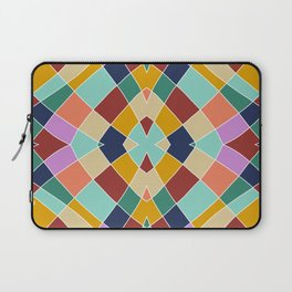 Retro Colored Church Window Pattern Laptop Sleeve