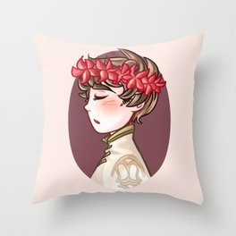 Flower Crown Prince Throw Pillow