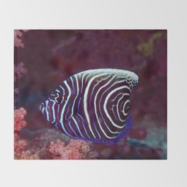 Fingerprint fish Throw Blanket