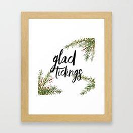 A glad tidings holiday Framed Art Print