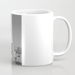 Black and White Philadelphia Skyline Coffee Mug