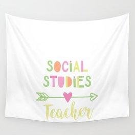 Social Studies Teacher Gift Idea Wall Tapestry