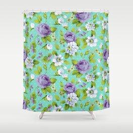 Hopeless Romantic - aqua version Shower Curtain