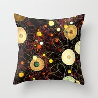 floral pattern Throw Pillows featuring Floral pattern by Klara Acel