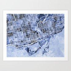 Toronto Street Map Art Print