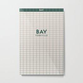 BAY | Subway Station Metal Print