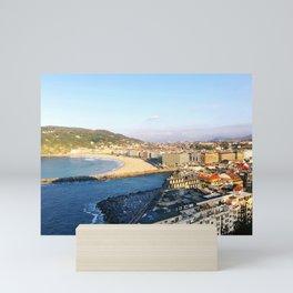 Donostia San Sebastián overlook Mini Art Print