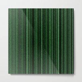 Green Matrix Metal Print