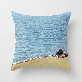 Go Fishing Throw Pillow