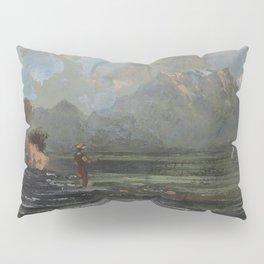 "Gustave Courbet ""Lake Geneva (Le Lac Léman - La Dent du midi)"" Pillow Sham"