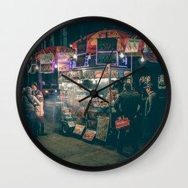 New york city Food Wall Clock