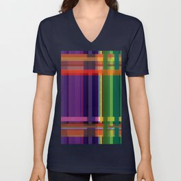 Abstract Geometry Weave Unisex V-Neck