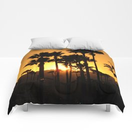 Palm Tree Hill Sunset Comforters
