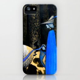 "John Bauer ""The blue rider"" illustration iPhone Case"