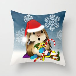 Currier & Bunnies: HO HO HO Throw Pillow