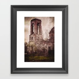 Church in ruins Framed Art Print
