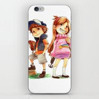 gravity falls iPhone & iPod Skins featuring Gravity Falls by Archiri Usagi