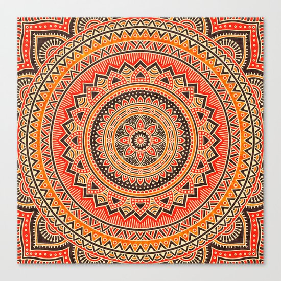 Hippie Mandala 12 Canvas Print