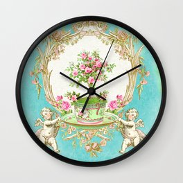 French Baroque Patisserie Tea Wall Clock