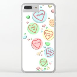 Kiwi Conversation Hearts by Squibble Design Clear iPhone Case