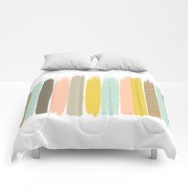 Madison - Brushstroke art print in modern colors bright and happy gifts for trendy girls Comforters