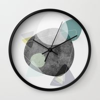 50s Wall Clocks featuring Graphic 112 by Mareike Böhmer
