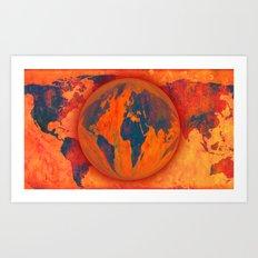 World on fire - 218 Art Print