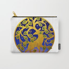 Magical Golden Stag Of The Forest At Dawn Carry-All Pouch