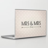lesbian Laptop & iPad Skins featuring Mrs & Mrs (lesbian content) by Jane Mathieu