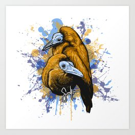 Capuchin birds Art Print