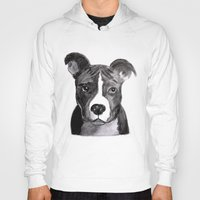 pit bull Hoodies featuring Pit Bull Dogs Lovers by Gooberella