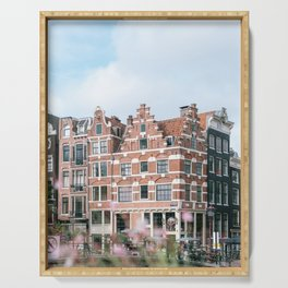 Summer in Amsterdam, Holland || Cityscape travel photography in light colors Serving Tray