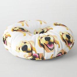 Good Boy / Yellow Labrador Retriever dog art Floor Pillow