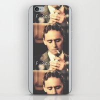 fitzgerald iPhone & iPod Skins featuring F. Scott Fitzgerald by Earl of Grey