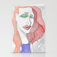 polka dot Stationery Cards featuring POLKA DOT by The Bravo Sisters Art